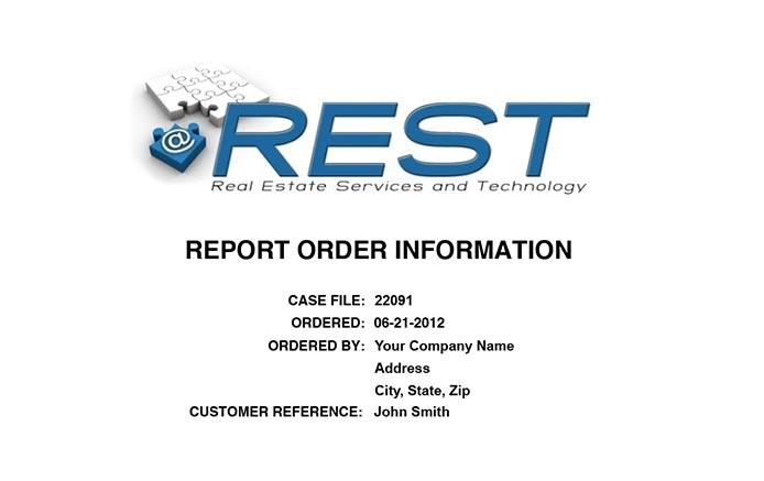 REST Report are branded for your company